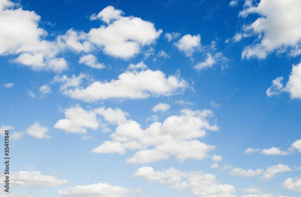 Beautiful summer clouds - blue sky