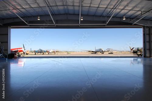 Airplane Hanger Fototapeta