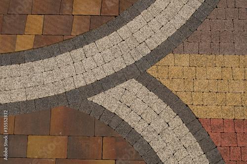 Wzór na chodniku Fototapeta
