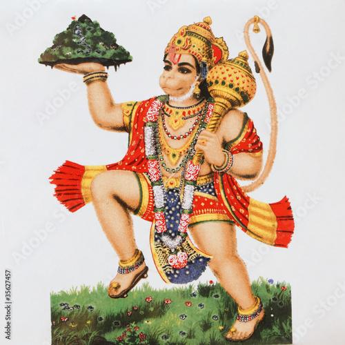 Obraz na płótnie Hinduskie bóstwo Hanuman