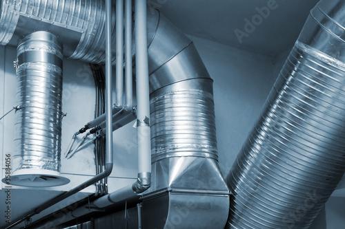 Fotomural System of ventilating pipes