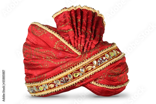 Obraz na plátně Indian Headgear used in Marriages