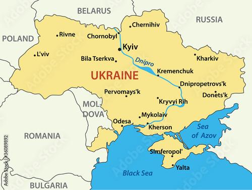 Photo map of Ukraine - vector illustration