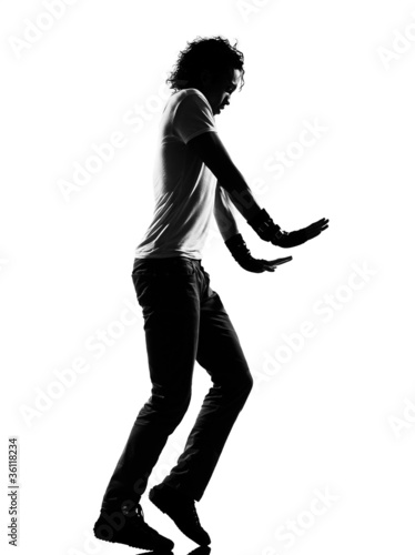 hip hop funk dancer dancing moonwalk man Fototapeta