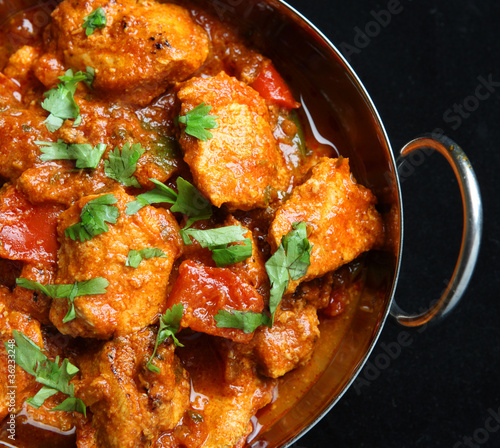 Valokuva Indian Chicken Jalfrezi Curry
