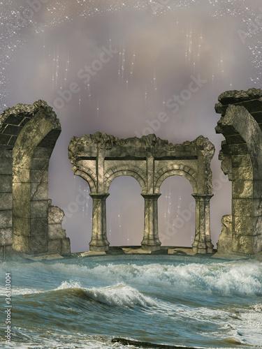 ruiny w morzu