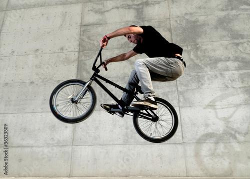 фотография Young BMX bicycle rider