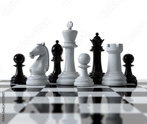 Stampa su Tela Schachfiguren auf dem Schachbrett