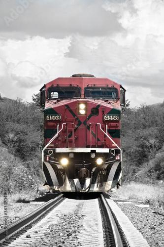 Fototapeta premium pociąg vintage
