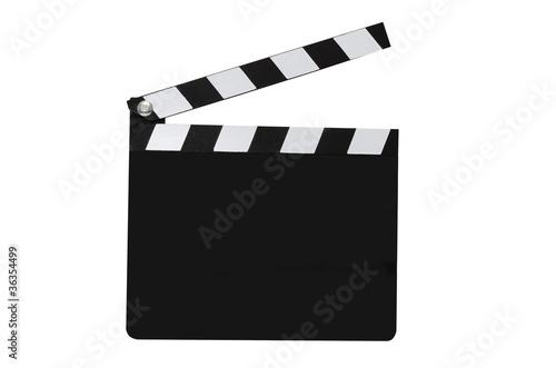 Cuadros en Lienzo Blank Movie Clapboard Isolated