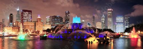 Photo Chicago night scene