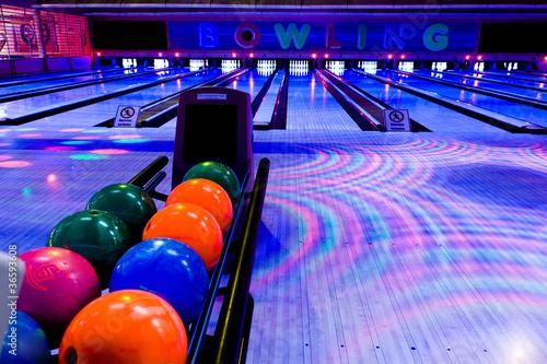 Leinwand Poster bowling center