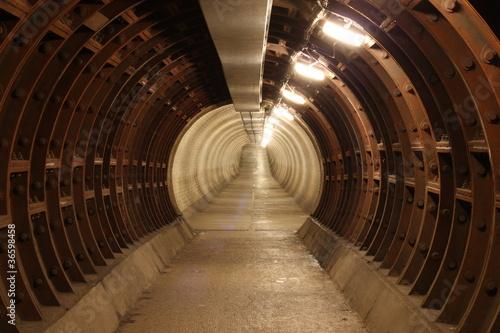 greenwich foot tunnel, london. #36598458