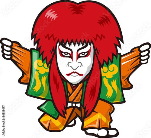 Carta da parati kabuki in Japanese