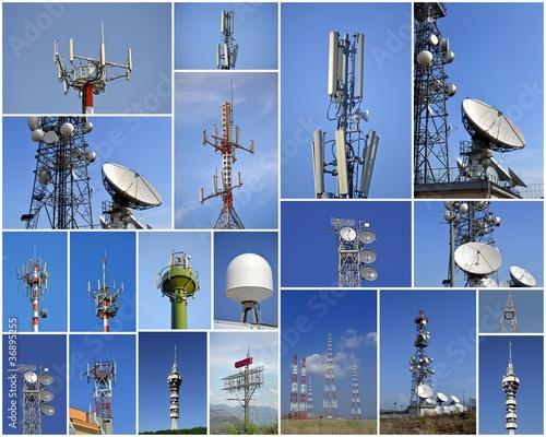 Foto Collage di antenne