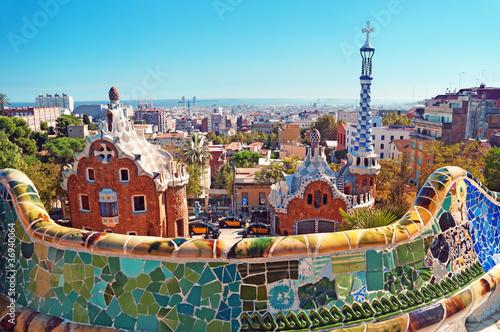 Fototapeta premium Park Guell w Barcelonie. Barcelona, Hiszpania