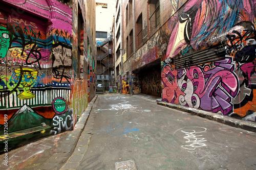 Graffiti Alley Tapéta, Fotótapéta