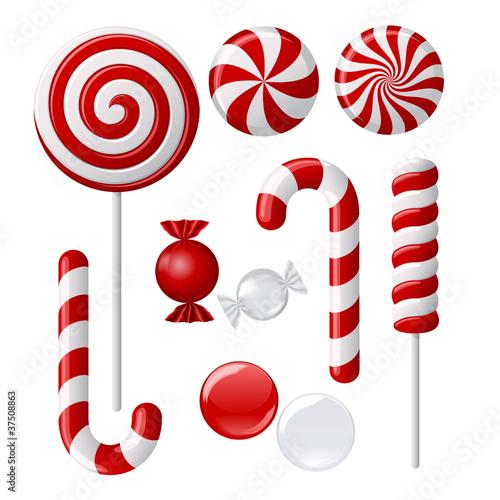 Delicious lollipop collection Fototapeta