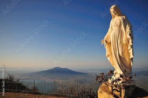 Obraz na płótnie Madonna di San Michele a Monte Faito - Vesuvio sullo sfondo
