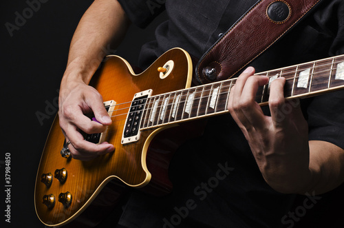 Carta da parati Man with guitar