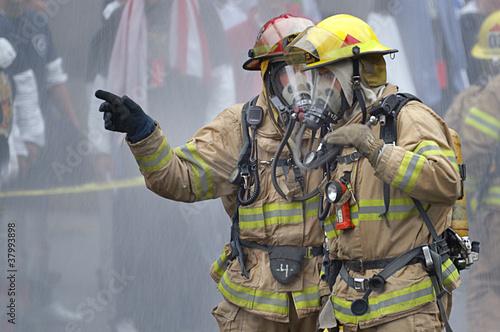 Canvas Print Firemen