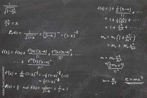 Photo energy formula on chalkboard