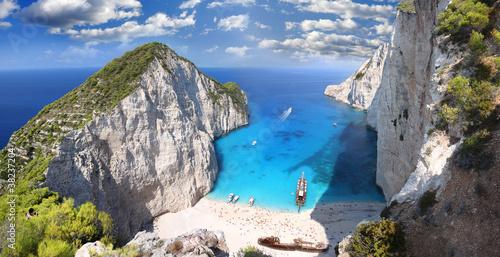 фотография Navagio Beach with shipwreck in Zakynthos, Greece