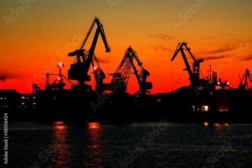 Port nocą #38356434