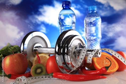 Fototapeta premium fitnessto zdrowie
