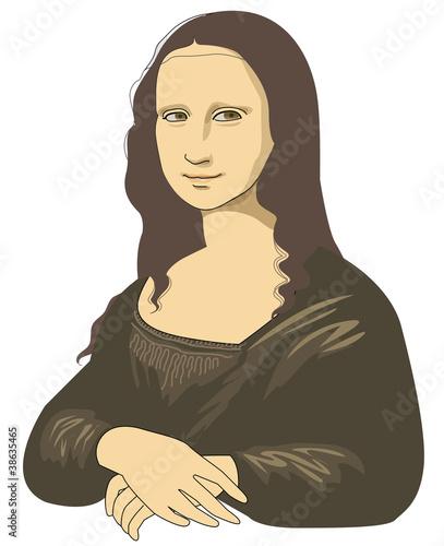 Wallpaper Mural Smile of Mona Lisa