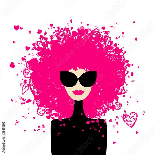 Fashion woman portrait for your design #38651202
