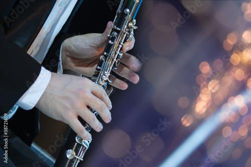 Obraz na płótnie Playing the clarinet