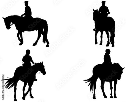 Fotomural cheval et cavalier de police