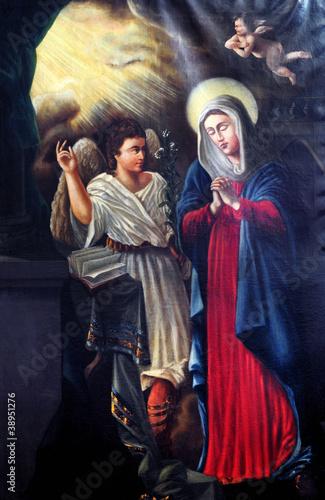Obraz na plátně Annunciation - the Virgin Mary
