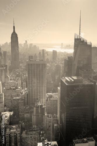 Fototapeta premium New York City skyline czarno-białe