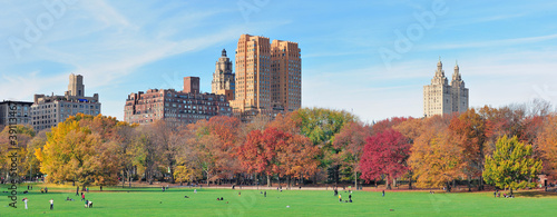 Foto New York City Central Park panorama at autumn