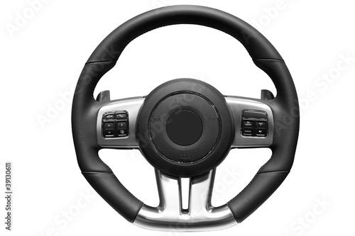 Wallpaper Mural Sports car steering wheel.
