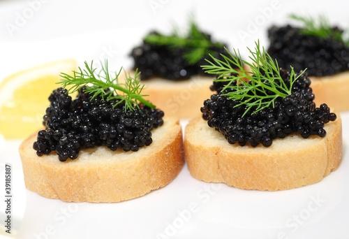 Toast, Kaviar