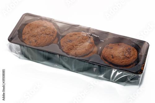 Obraz na płótnie Paquet de biscuits chocolat