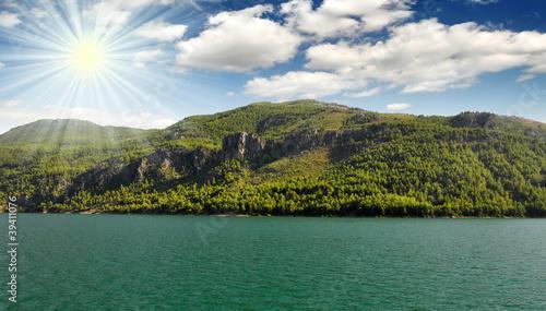 Fotografie, Obraz beautiful view mounttain Green Canyon in Turkey