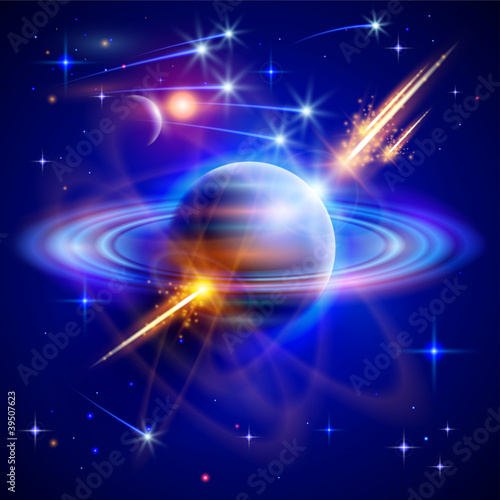 Magical space - stars, planets, comets, meteors, nebulae