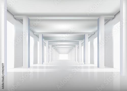 Białe wnętrze. Ilustracji wektorowych.