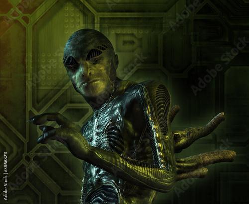 Slika na platnu Alien Creature Portrait