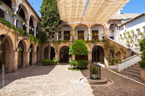 Amazing arcades courtyard in Cordoba, Spain Fototapeta