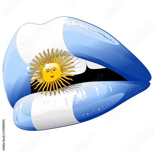 Wallpaper Mural Labbra Sensuali Argentina-Labios Sensuales Bandera Argentina