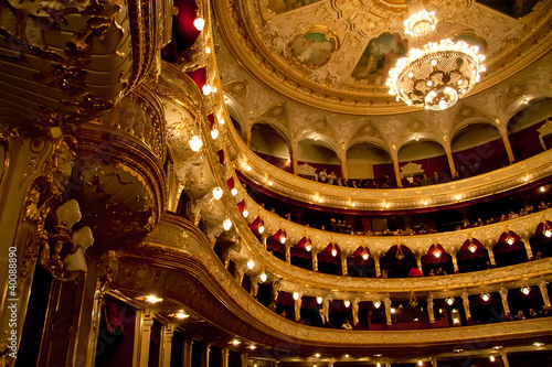 Fotografia Interior of Opera house in Odassa, Ukraine