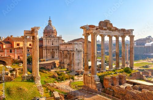 Vászonkép Roman ruins in Rome, Forum