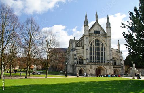 Fototapeta Winchester cathedral in UK
