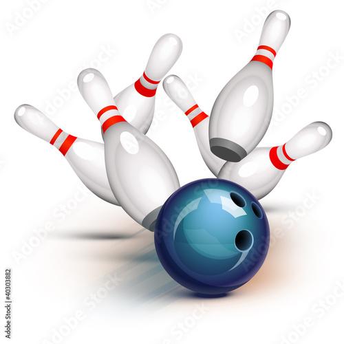 Valokuvatapetti Bowling Game (front view)