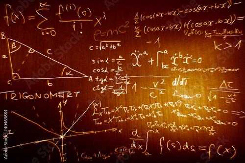 Canvas Print Science Mathematics Physics Illustration